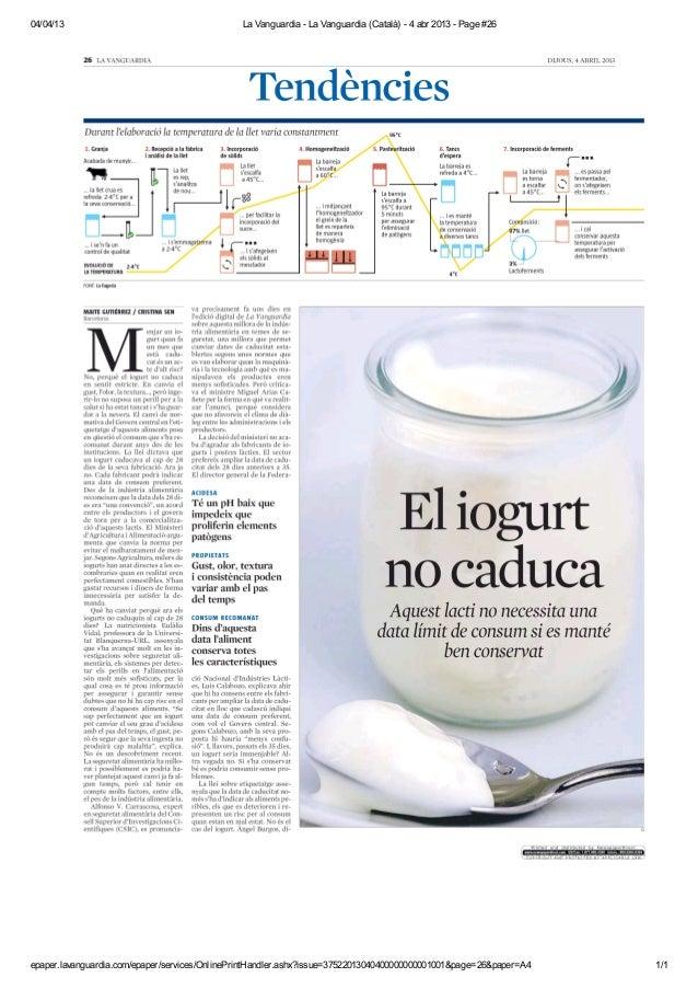 04/04/13                                       La Vanguardia - La Vanguardia (Català) - 4 abr 2013 - Page #26epaper.lavang...