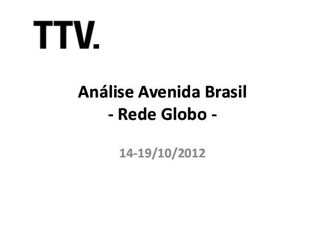 Análise Avenida Brasil   - Rede Globo -     14-     14-19/10/2012