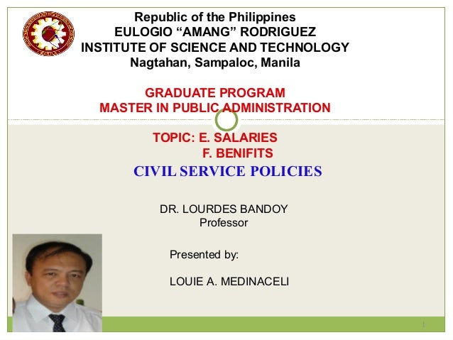 Report civil service policies