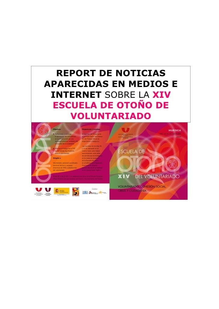 Report De Escuela De OtoñO En Huesca 2009