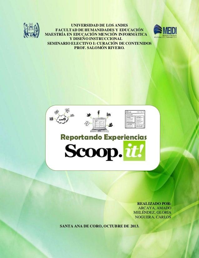 Reporte de experiencias del uso de scoop.it