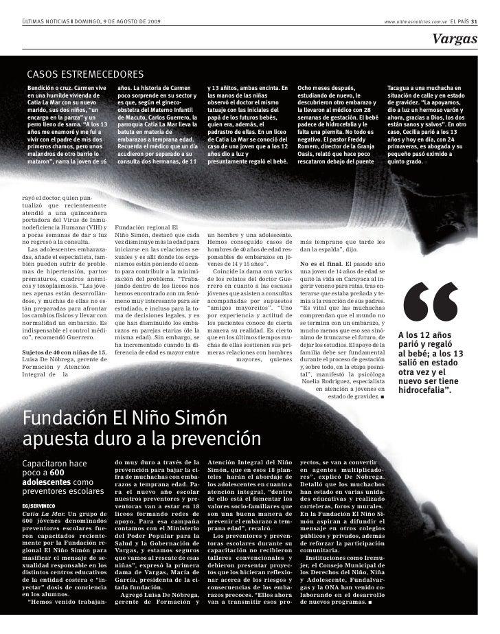 ÚLTIMAS NOTICIAS ❙ DOMINGO, 9 DE AGOSTO DE 2009                                                                           ...