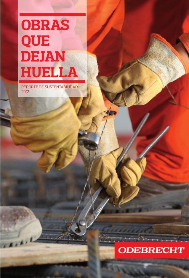 obras que dejan huella Reporte de sustentabilidad 2012