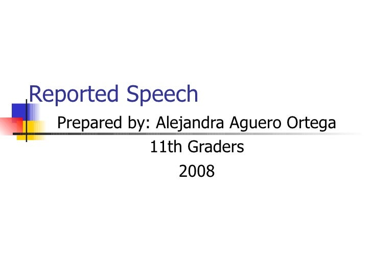 Reported Speech 11