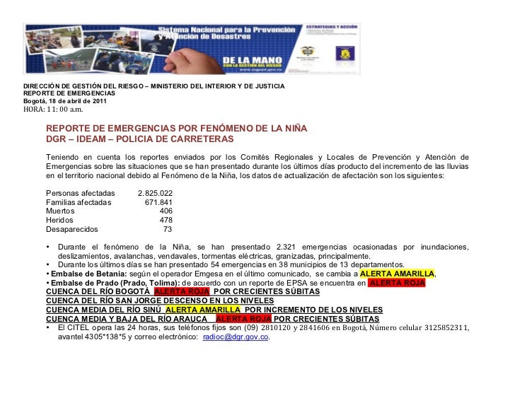 18/04/2011 Reporte emergencias DGR Ideam Policarreteras 7