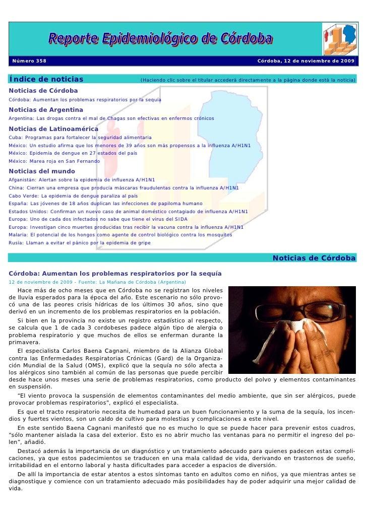 Reporte EpidemiolóGico De CóRdoba