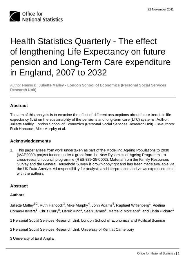 Reporte expectativa de vida