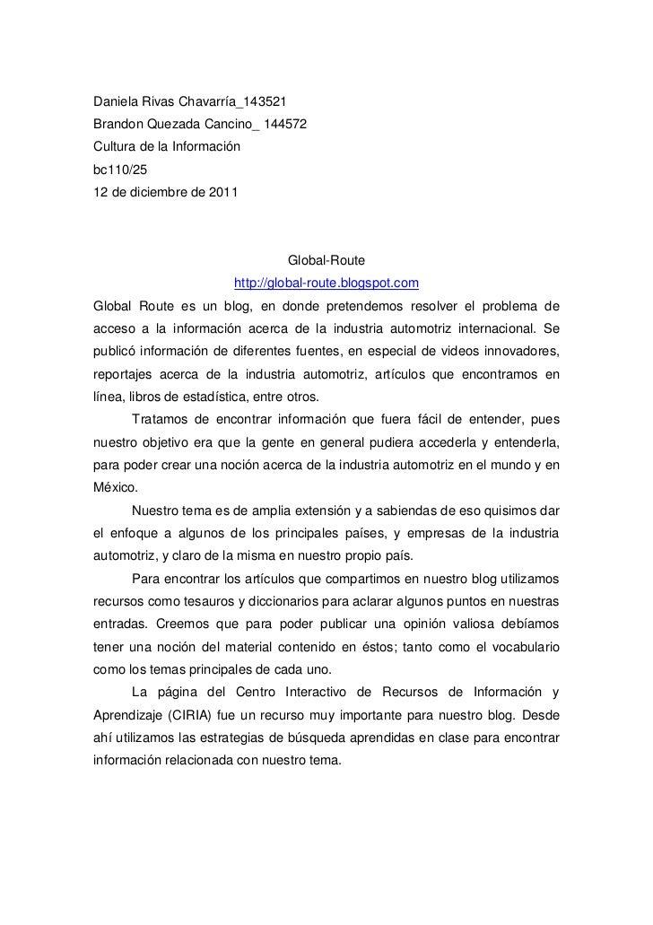 Daniela Rivas Chavarría_143521Brandon Quezada Cancino_ 144572Cultura de la Informaciónbc110/2512 de diciembre de 2011     ...