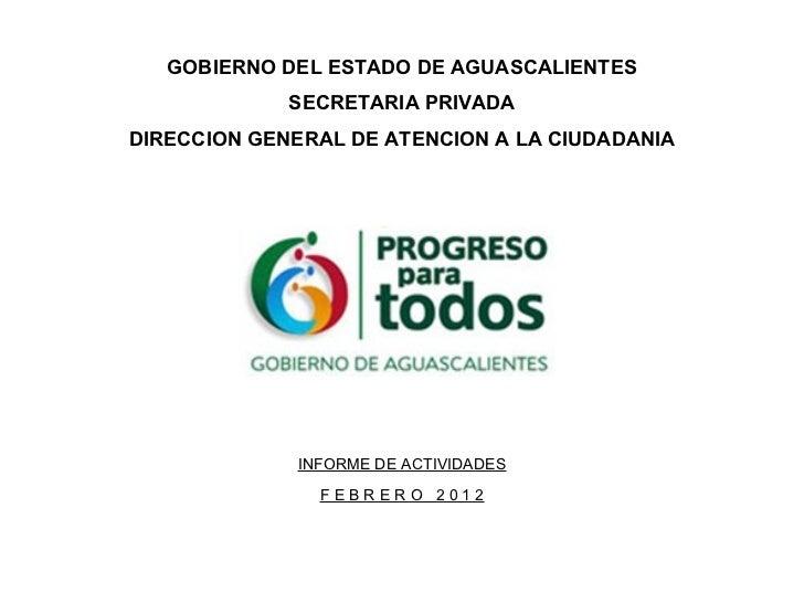 Reporte general febrero 2012