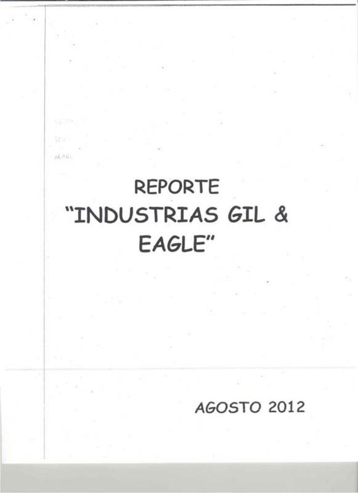 Reporte industrias gil & eagle.marco antonio glez pak