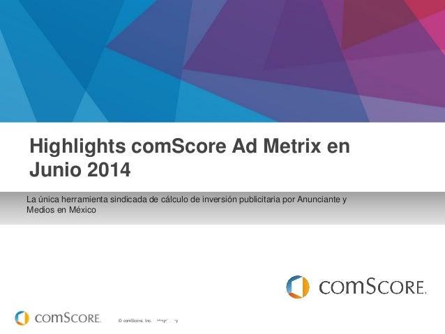 Reporte mensual ad metrix junio 2014