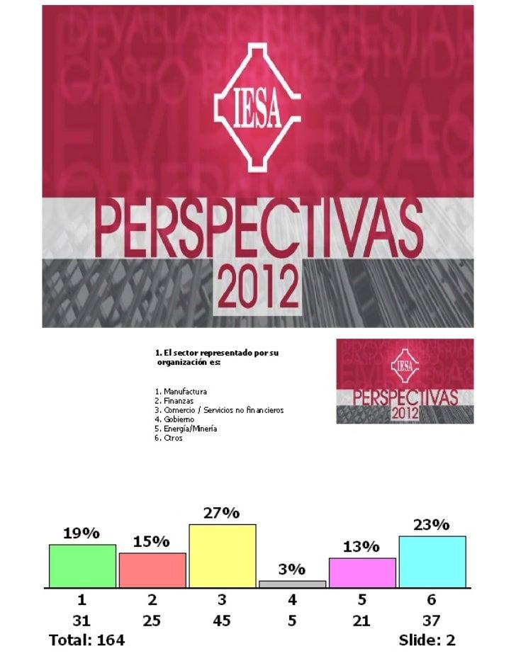 Perspectivas 2012 - Encuestas auditorio