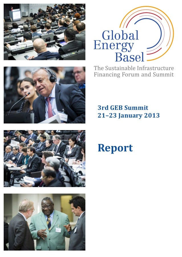 3rd	   GEB	   Summit	    21–23	   January	   2013	    	    Report