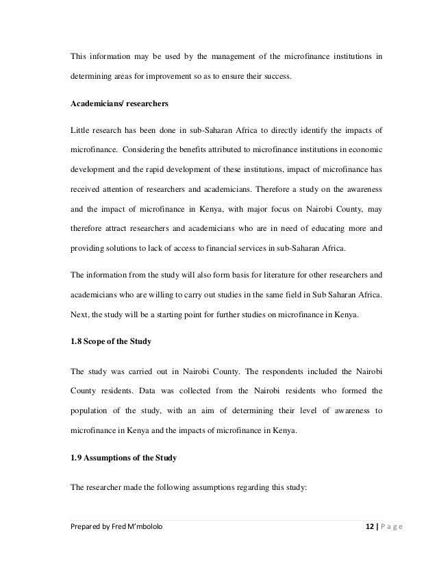 Assumptions Section Of Dissertation
