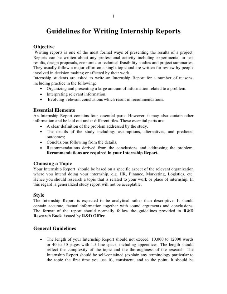 technical report writing format