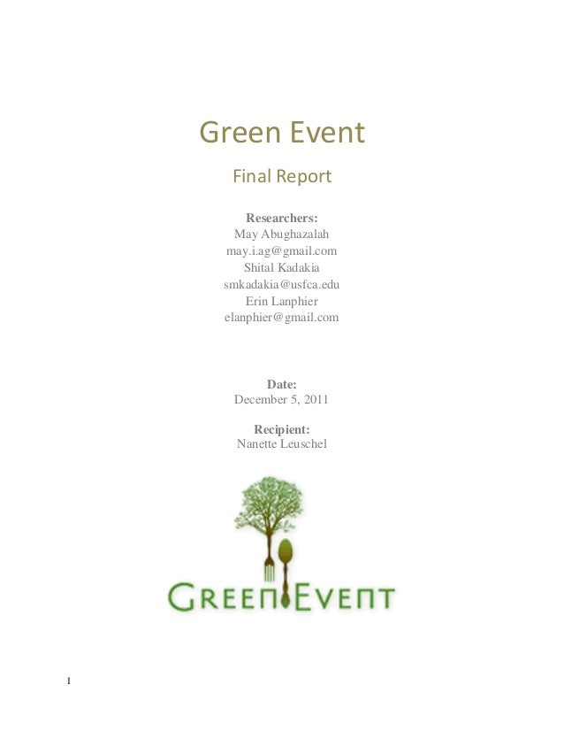 The Green Consumer - Market Research Report