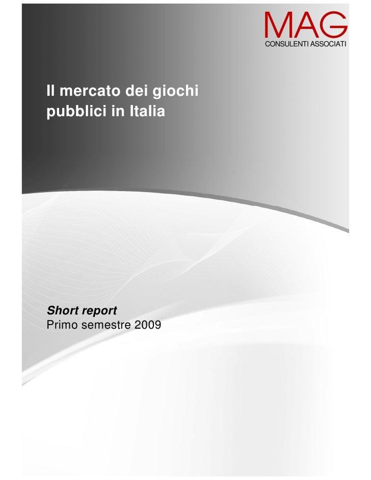 Gambling in Italy 2009
