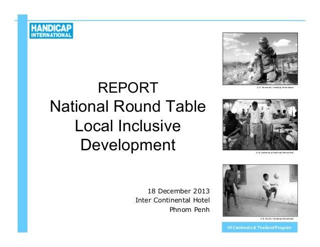 Report Round Table Inclusive Development Cambodia