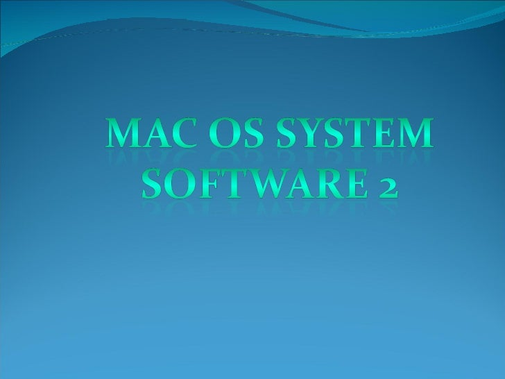 Report In Cmsc 410(Mac Os System Software 2)