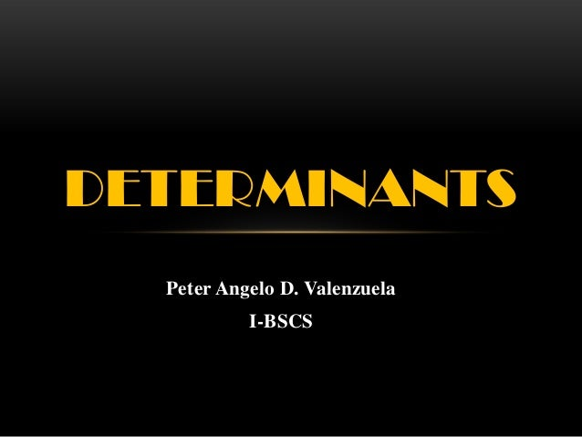 Report in determinants