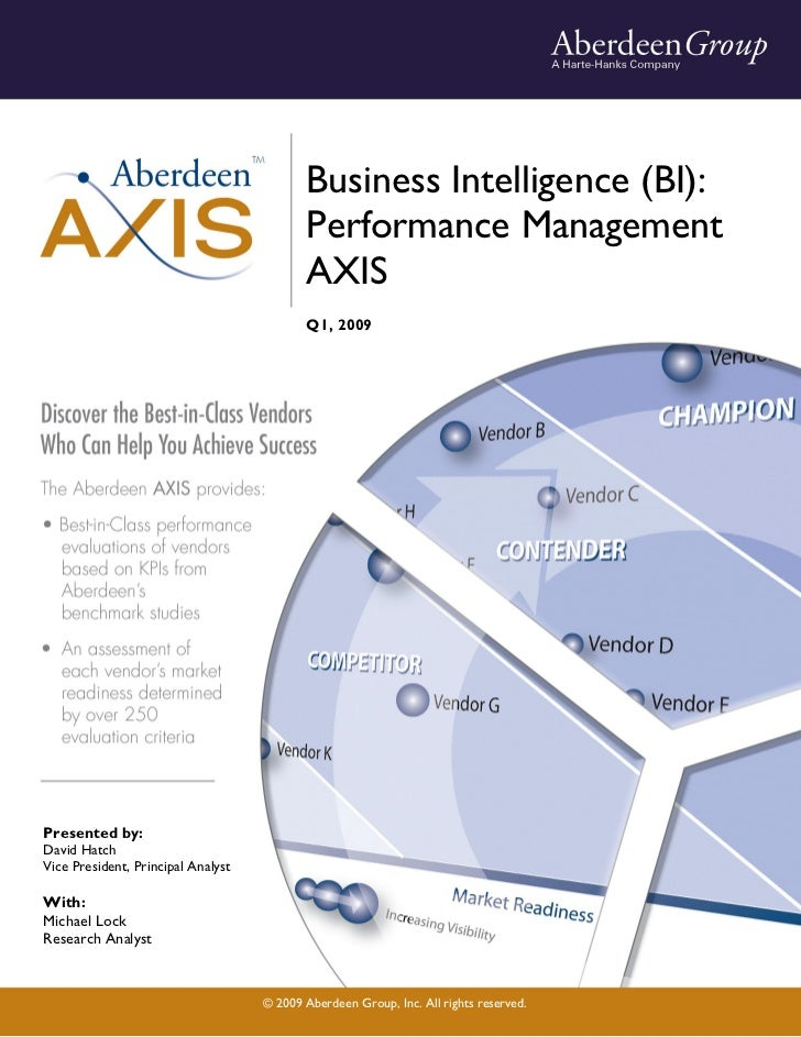 Business Intelligence: Performance Management AXIS, Q1, 2009