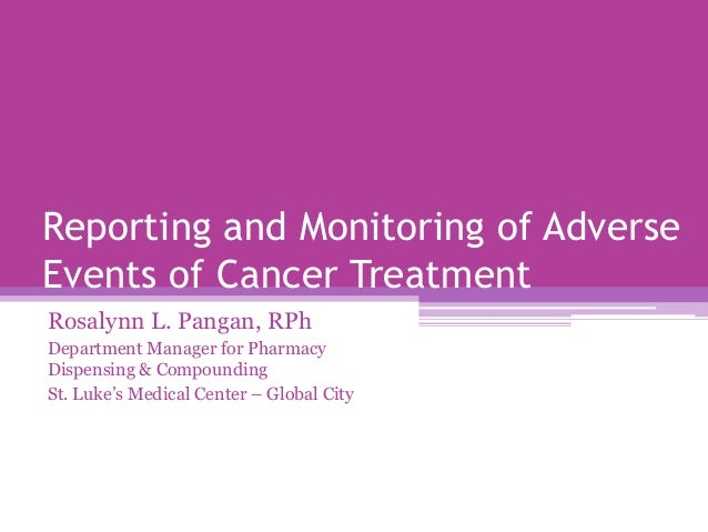 Reporting and monitoring adverse events with cancer treatment [final]