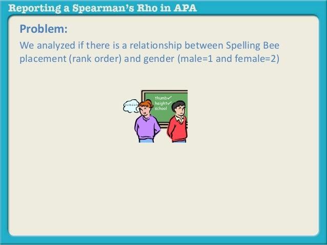 Spearman's Rank in SPSS Help?