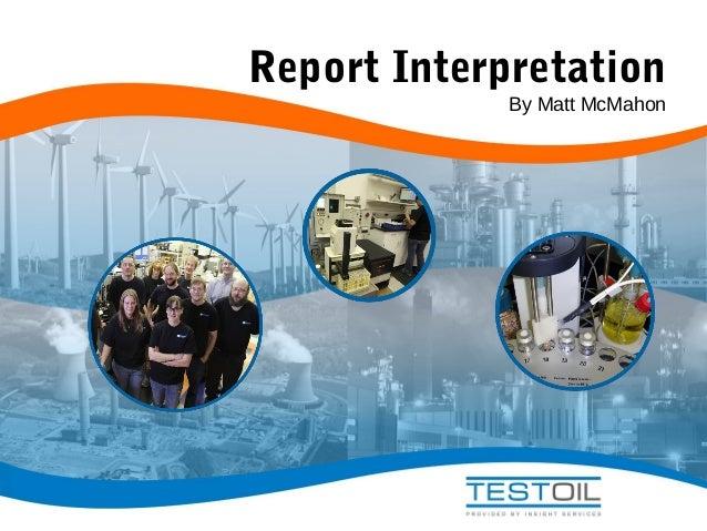 Report Interpretation By Matt McMahon