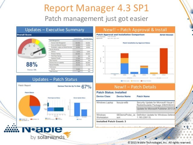 N Able Report Manager 4 3 Patch Management Just Got Easier