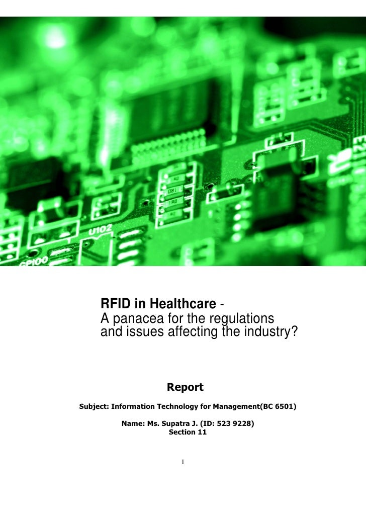 UPS Supply Chain SolutionsSM          RFID in Healthcare -      A panacea for the regulations      and issues affecting th...