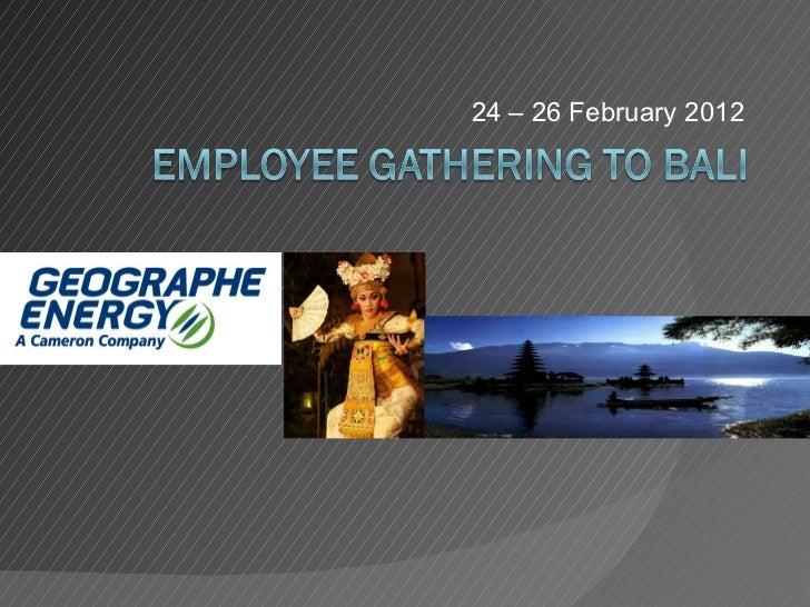 24 – 26 February 2012