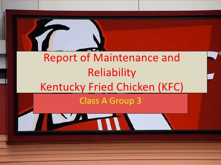 Report Of Maintenance And Reliability
