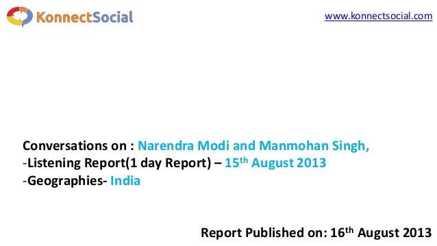 PM Vs Narendra Modi's Independence Day Speech on Social Media [Report]