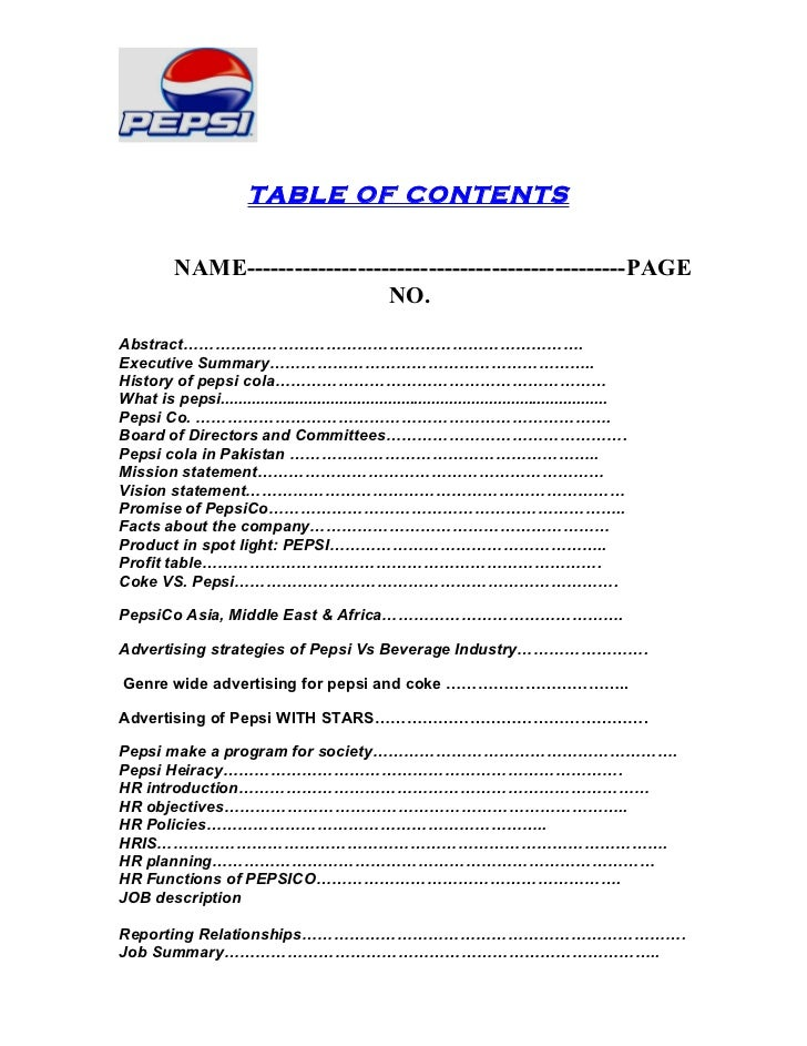 Human Resource Management of PepsiCo