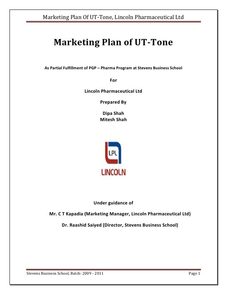 Report On Marketing Plan Of Ut Tone
