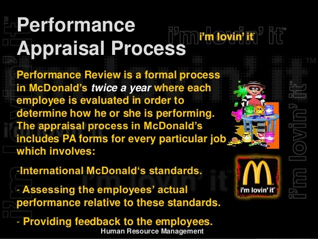 human resource management mcdonald Human resource management in mcdonald business essay david guest in the year 1987 has introduced guest's model of hrm which is based on employee commitment further differing from various.