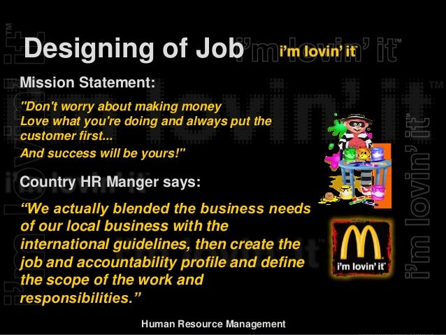 human resource activities at mcdonalds Today's top 7 mcdonald's corporation human resources jobs in united states leverage your professional network, and get hired new mcdonald's corporation human resources jobs added daily.