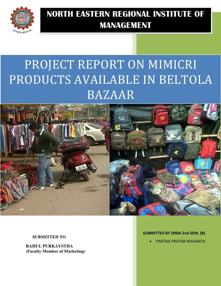 Report on mimicri product