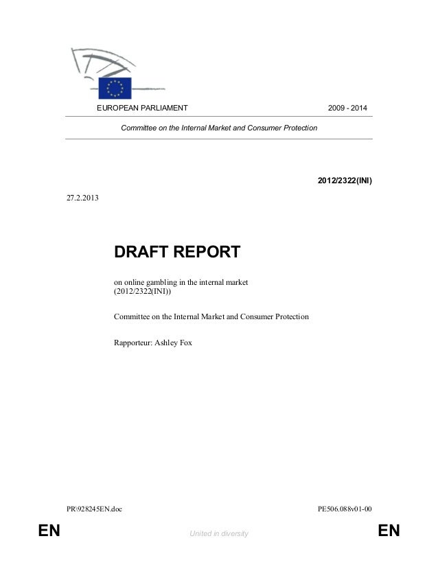 PR928245EN.doc PE506.088v01-00EN United in diversity ENEUROPEAN PARLIAMENT 2009 - 2014Committee on the Internal Market and...