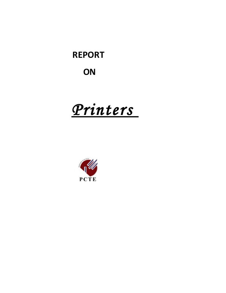 Report on printers