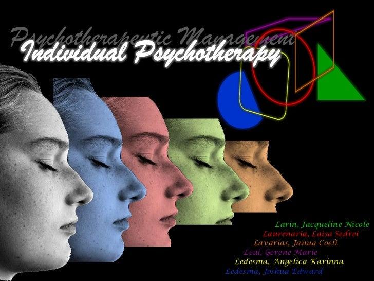 Psychotherapeutic Management                                 Larin, Jacqueline Nicole                              Laurena...