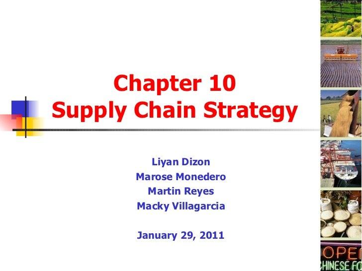 Supply Chain (Chap10)