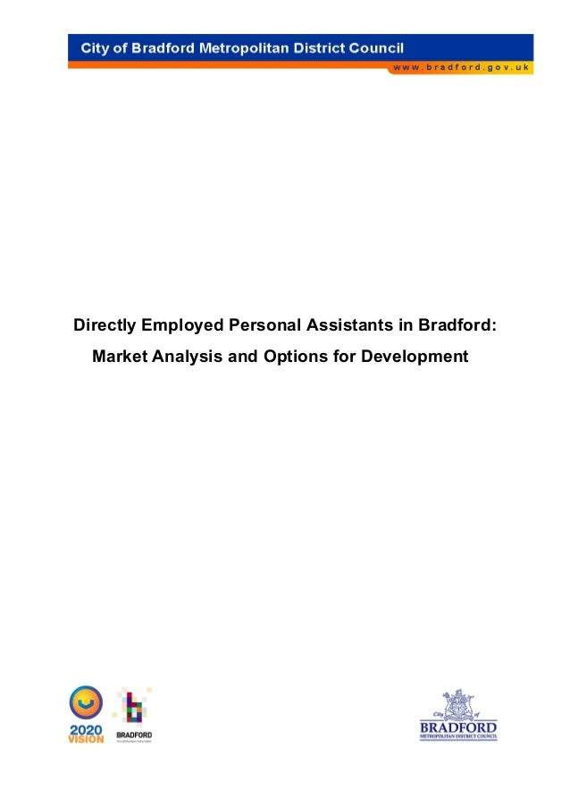 Directly Employed Personal Assistants in Bradford: Market Analysis and Options for Development