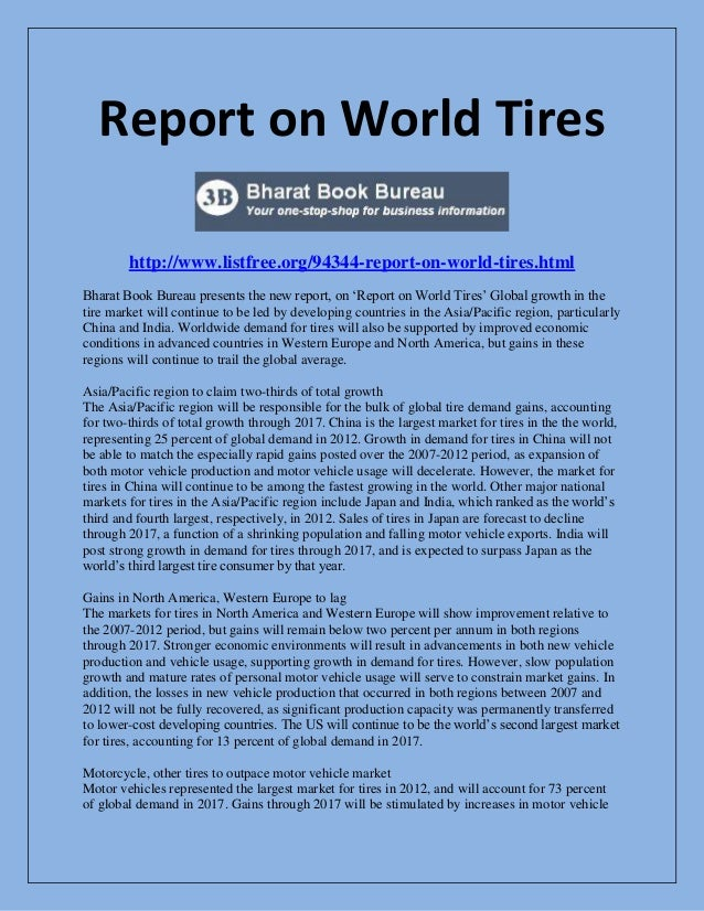 Report on world tires