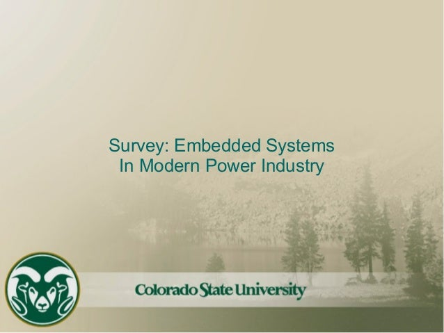 Survey: Embedded Systems In Modern Power Industry