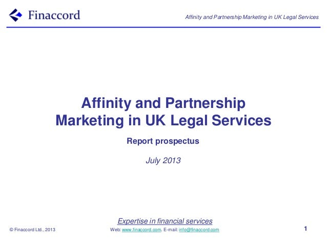 Expertise in financial services Web: www.finaccord.com. E-mail: info@finaccord.com Affinity and Partnership Marketing in U...
