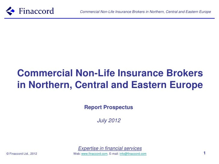 Commercial Non-Life Insurance Brokers in Northern, Central and Eastern Europe       Commercial Non-Life Insurance Brokers ...