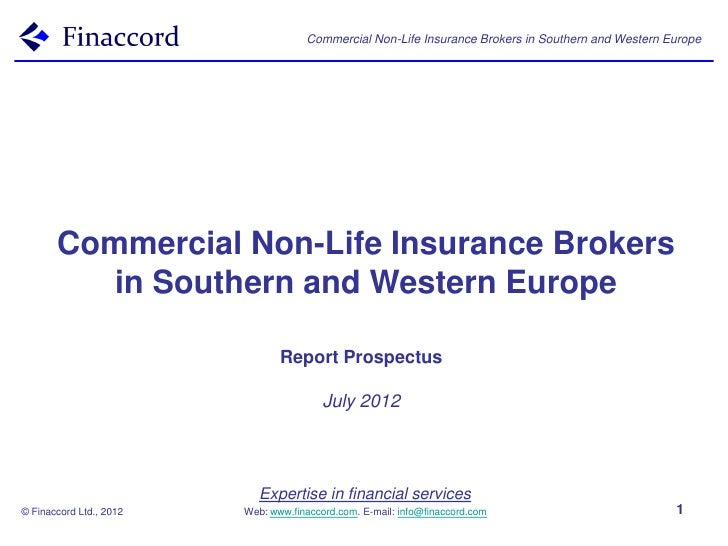 Commercial Non-Life Insurance Brokers in Southern and Western Europe       Commercial Non-Life Insurance Brokers          ...