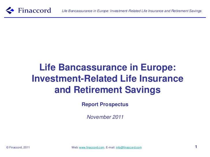 Report prospectus life_bancassurance_europe_investment-related_life_insurance_retirement_savings