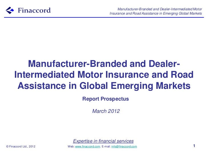 Manufacturer-Branded and Dealer-Intermediated Motor                                                       Insurance and Ro...